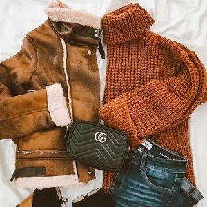 Goodnight Macaroon Sweaters - NEW Rust Turtleneck Cozy Sweater